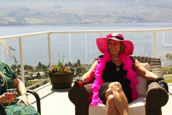 #pink #hightea #hightea #bridalshower #okanagan #view