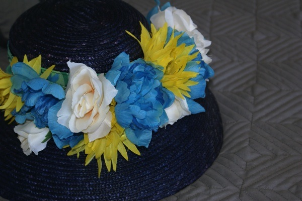 #blue #hat #hightea #bridalshower