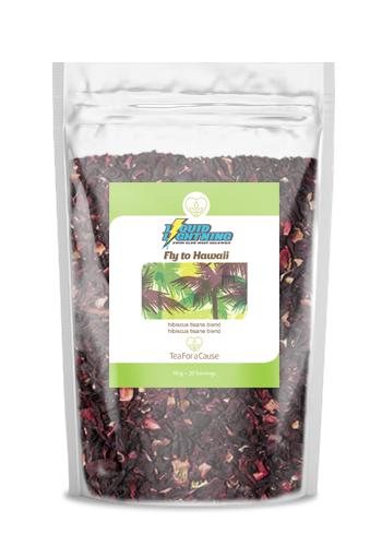 TeaForaCause.ca #tea #fundraiser for Liquid Lightning Swim Club #hibiscus Fly to Hawaii