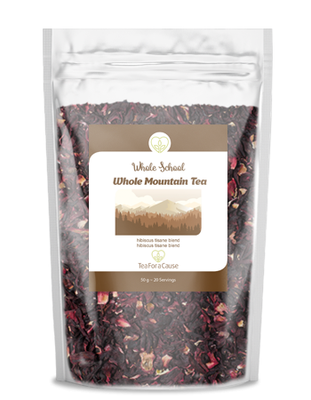 TeaForaCause.ca #tea #fundraiser for Whole School, a community school in the Slocan Valley #mint #tea #hibiscus Whole Mountain Tea